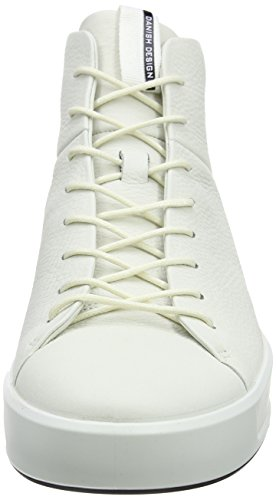 ECCO Soft 8 Mens, Sneaker a Collo Alto Uomo Bianco (White)