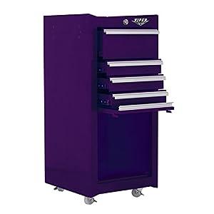 Viper Tool Storage V1804PUR 16-Inch 4-Drawer 18G Steel Rolling Tool / Salon Cart