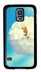 make Samsung Galaxy S5 covers White Flower PC Black Custom Samsung Galaxy S5 Case Cover