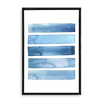 Created By a Professional Artist, Pretty Style, Framed Home Artwork Nordic Style Blue for Living Room Bedroom