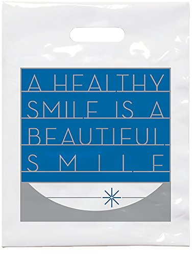 """Practicon 1109618 Beautiful Smile Patient Care Bags, 7-3/4"""" x 9"""" (Pack of 100)"""