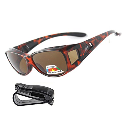 Fit Over Sunglasses Polarized Sunglasses to Wear Over Glasses plus car holder - Your Glasses You Sunglasses Wear Over
