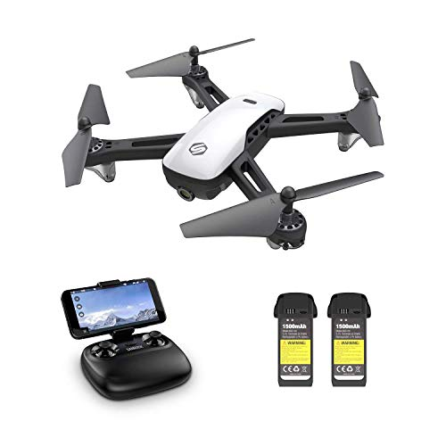 SANROCK U52 Camera Drones for Kids and Adults with 2 Battery, Long Flying Time, Christmas Gift Toy for Boys and Girls