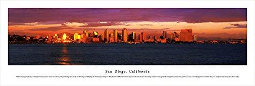 San Diego, California at Sunset - Blakeway Panoramas Unframed Skyline - Plaza Diego Americas San Las