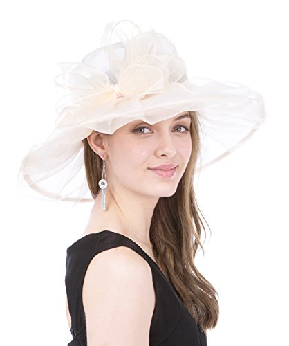 saferin-womens-kentucky-derby-sun-hat-church-cocktail-party-wedding-dress-organza-hat-beige-bowknot