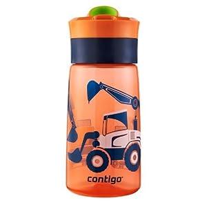 Contigo Autoseal Kids Gracie Water Bottle, 14-Ounce, Nectarine Graphic by Ignite USA