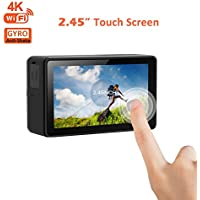 OnReal 4K Action Camera 2.45 inch Touch screen Full HD WiFi Underwater Camera with 170 Degree Wide Angle Lens and 2.4G Hz Remote Control Bracelet