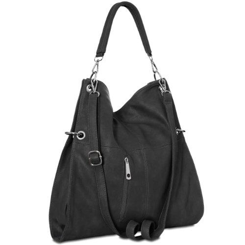 TS561 Negro para Varios CASPAR de Bolso Colores de Bolso Mano en Bandolera Mujer ARqd7aqx