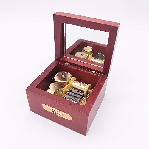 - Wood Music Box,Mini Music Box with Yunsheng Movement,Play Love Story,Rose Wood
