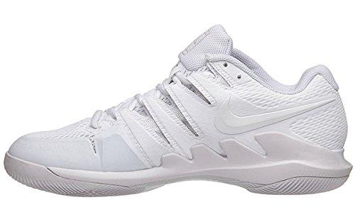 Nike Damen Zoom Vapor X Tennisschuhe Weiß / Weiß - riesiges Grau
