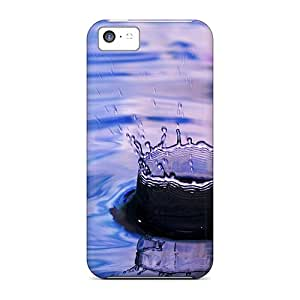 New Npp54074bKav Purple Drop Skin Cases Covers Shatterproof Cases For Iphone 5c