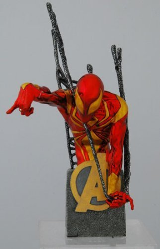 Spider Man New Costume Marvel Now (Marvel Universe: New Avengers Civil War Iron Armor Spider-Man 'Chrome' Variant Bust Wizard World Los Angeles 2007 Exclusive! Limited to 500)