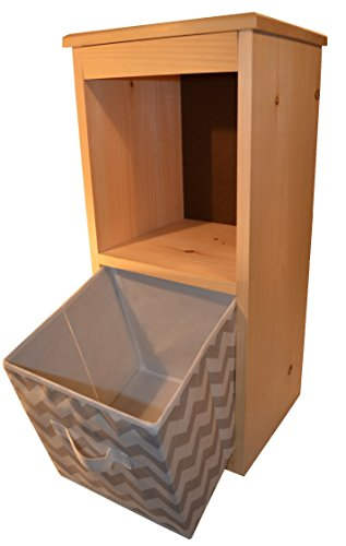 Unfinished Solid Pine Wood 2 Hole Cube Storage Multi-purpose Organization Cabinet That Holds Collapsible Fabric Bins (NOT INCLUDED) In The 10 3/4 x 10 3/4 x 11 1/4 (Solid Pine Unfinished Cabinet)