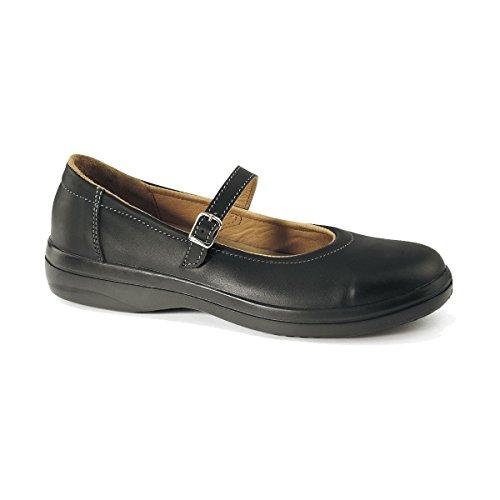 Ballerina S2 Black Office Corrine Cap Shoes Formal Steel Toe SRC Lemaitre Safety FawCtTnq5