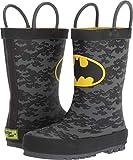 Western Chief Kids Baby Boy's Batman Crime Fighter Rain Boot (Toddler/Little Kid/Big Kid) Black 1 M US Little Kid