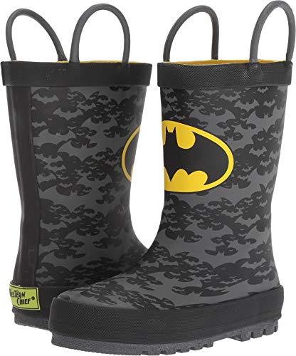 Western Chief Kids Baby Boy's Batman Crime Fighter Rain Boot (Toddler/Little Kid/Big Kid) Black 1 M US Little Kid by Western Chief