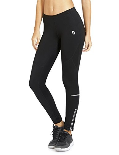 (Baleaf Women's Cycling Running Athletic Thermal Fleece Tights Black Size XS)