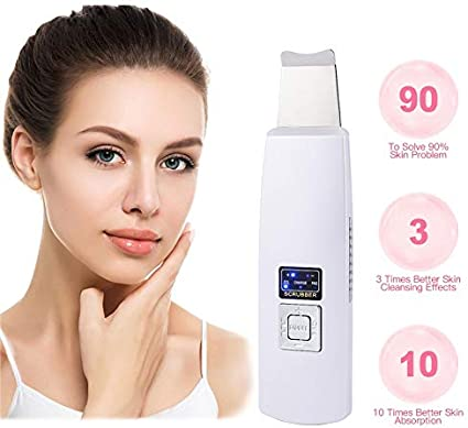 Ultrasonic Deep Face Cleaning Machine Skin Scrubber Remove Dirt,25,000 Ultrasonic Vibrations per Second, Moderate Heating,Promote Blood Circulation: Amazon.fr: Cuisine & Maison