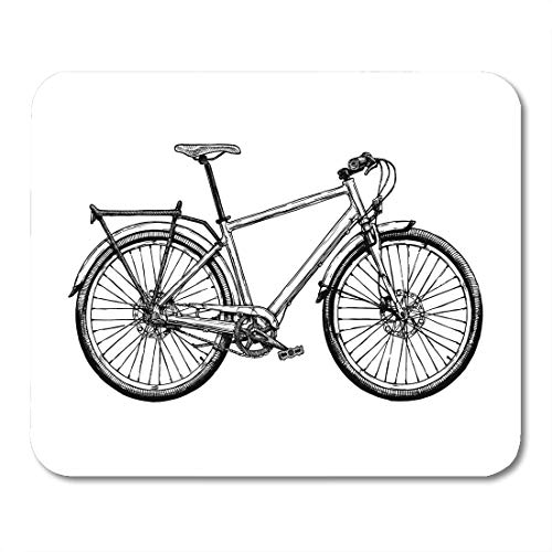 Emvency Mouse Pads Bike of Hybrid Bicycle in Ink Hard Tail Sketch Drawing Pen Ancient Mouse pad 9.5