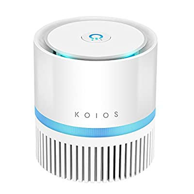 Koios Desktop Air Purifier with True HEPA Filter ,Compact Design Air Eliminator Cleaner for Room and Office,Reduce Allergens, Pollen, Dust, Mold, Pet Dander,Smoke and Odors