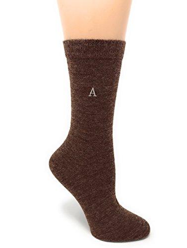 Brown Warm Walnut (Warrior Alpaca Socks - Women's Trouser Alpaca Socks - Thin yet Warm with wonderful Wicking - Perfect for Spring & Summer (Walnut))