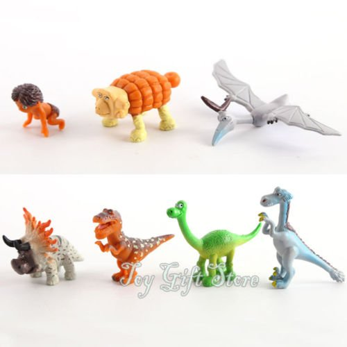 7PCS Arlo Spot The Good Dinosaur 3-6CM Figure Doll Toy New