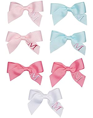Baby Girls' Initial Hair Bow M Set