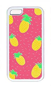 Pink background Pineapple Pattern Theme Iphone 5C Case by ruishername