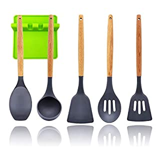 Premium 6pcs Silicone Utensils-Set Kitchen Cooking-Utensils