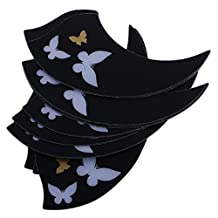 MonkeyJack Ukulele Replacement Parts 10 Pieces Pick Guards Pickguards Scratch Protector Black - Butterfly