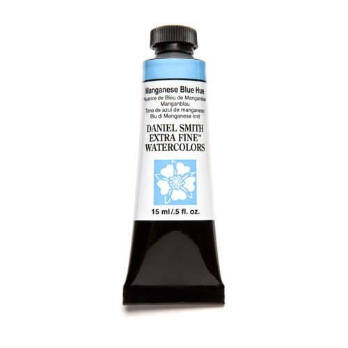 DANIEL SMITH Extra Fine Watercolor 15ml Paint Tube, Manganese Blue Hue