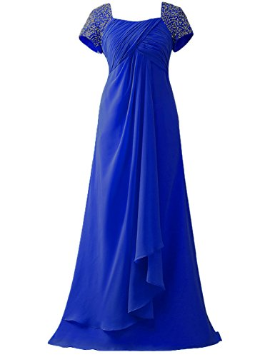 Mangas Largo Madre Azul real de formales Paseo Gorra Vestidos Vestidos Rosario Gasa HUINI novia la wg5CnOtqt