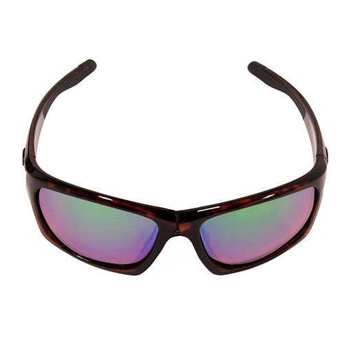 (Strike King Plus SG-SKP431 Cypress Polarized Sunglasses Shiny Brown Tortiseshell Frame and Green Mirror Amber Base Lens)