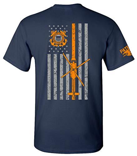 Mens Us Coast Guard - Patriot Apparel US Coast Guard USCG U.S. Armed Forces T-Shirt Tee (2X-Large, Navy)