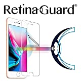 RetinaGuard Anti-Blue Light Tempered Glass Screen Protector for iPhone 8 - SGS & Intertek Tested - Blocks Excessive Harmful Blue Light, Reduce Eye Fatigue and Eye Strain (Transparent)