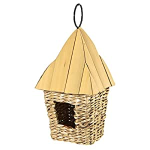 Akerue Woodlink Square Roosting Pocket with Bamboo Roof