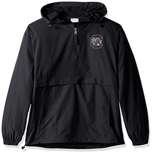 Champion NCAA Men's Half Zip Front Pocket Packable Jacket South Carolina Fighting Gamecocks Large