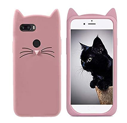sale retailer 0e21b b384f Aarnik 3D Silicone and Rubber Cartoon Series Cute Cat Ear & Beard Back  Cover for Honor 9N - Rose Gold