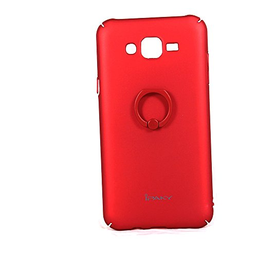 IPAKY Samsung J7 RED Hard Case Back Cover