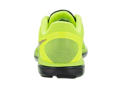 Nike Hommes Flex 2016 Rn Bouclier, Volt / Métallique Rouge Bronze