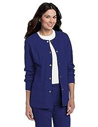 Landau Womens Big Womens Pre-Washed Warm-up Scrub Jacket