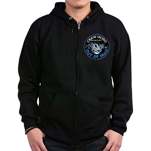 CafePress 2-Crew Ocho Kitty - Zip Hoodie, Classic Hooded Sweatshirt With Metal Zipper Kitty Zip Hoodie