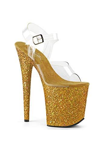 808lg Glitter Femme Multi Bout gold Clr Pleaser Ouvert Flamingo Uw1Wq4Z