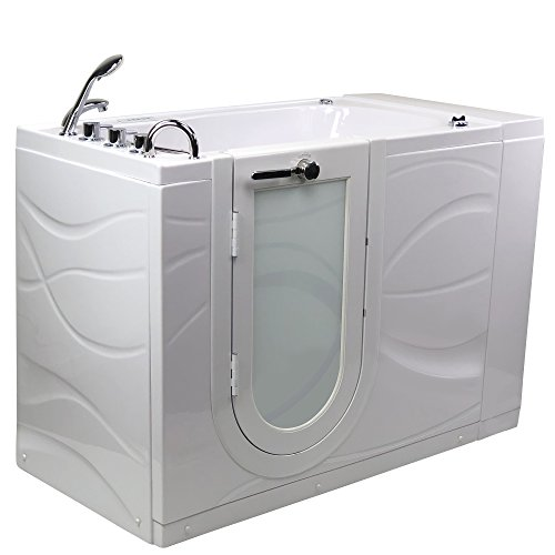Hydro Walks (Chi Acrylic Hydro Massage and Heated Seat Walk-In Bathtub with Left Outward Swing Door, Thermostatic Faucet, 2