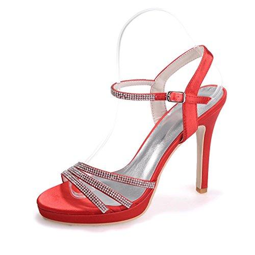 L@YC 5915-16 Tacones altos De Las Mujeres / Hebillas Peep Toe Detalles De La Fiesta Y La Oficina Red