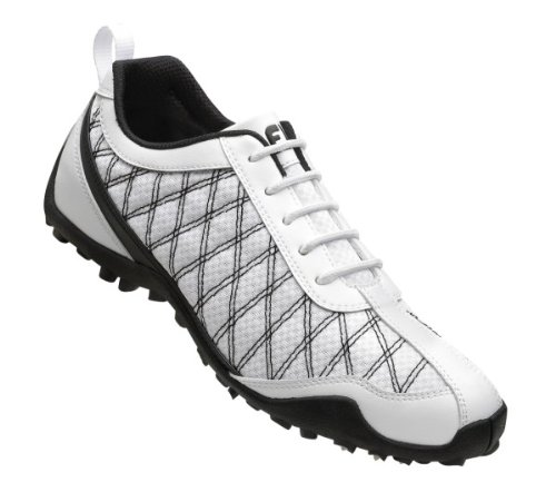 FootJoy 2013 Lady Summer Series Mesh Spikeless Golf Shoes White-Black 8.5 Medium