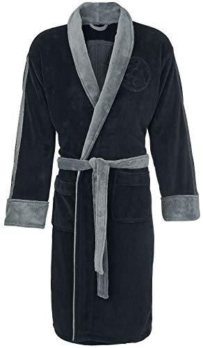Star Wars Bathrobe (Official Star Wars Darth Vader Black Embossed Dressing Gown Bathrobe - One)