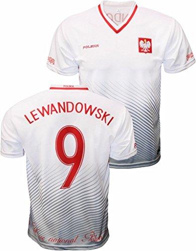 differently 33de9 91798 Youth Robert Lewandowski Polska Soccer Jersey Polish Pride Poland National  Team Zulla V-Neck Jersey