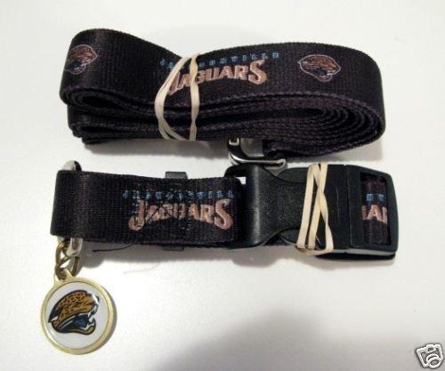 Jacksonville Jaguars Leash - Hunter Jacksonville Jaguars Pet Set Dog Leash Collar ID Tag Large