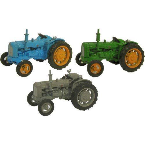 Fordson Tractor 3 Piece Set - Blue / Green / Grey Oxford